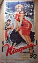 Niagara, Original LARGE French Poster, Marilyn Monroe, Joseph Cotten, '70
